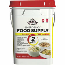 Emergency Food Supplies Augason Farms 140 Servings Storage Survival Bucket MREs