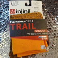 Injinji Mini Crew Length Trail Unisex Orange Sock Sz S