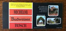 Vintage Michelob Anheuser Busch Beer Brochure Pamphlet Brewery Tour Ad
