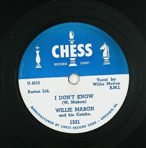 WILLIE MABON I Don't Know/Worry Blues 10IN 1952 BLUES VG++ LISTEN!!!!!!