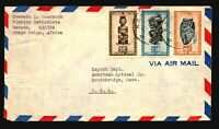Belgian Congo 1940s Airmail Cover to USA / Light Fold - Z14364