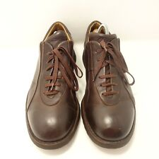 Paraboot  Extra Wide Brown Leather Lace Up Oxfords Rubber Soles France SZ 10