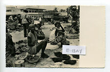 Kisangani, DRC, RPPC real photo, market, people, truck in background, 1950's?