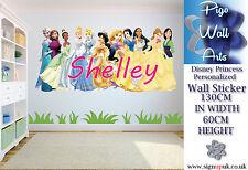 Disney Princesa Pared Arte Pegatina personalizar para Dormitorio de Niños Pared Arte Calcomanía.