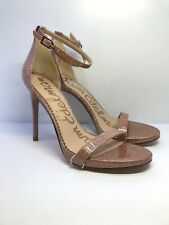 90f94edb2 SH1*Womens Sam Edelman Ariella Ankle Strap Sandal Pink Glitter Patent UK  6/EU