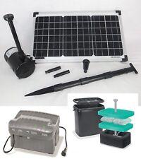 20 W Solarpumpe Solarteichpumpe Garten Akku Gartenteich Pumpe Filter Tauchpumpe