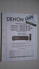 Denon dcd-815 g 615 service manual original repair book stereo cd player