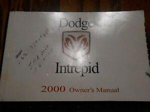 00 Dodge Intrepid Owners Betreiber Manuell 2000