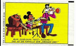 Kaugummibild Mit OK nie k.o. Bubble Gum Ok Bild Musikanten Micky, Goofy - TOP Z1