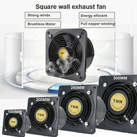 6-12' Wall-mounted Ventilation Extractor Exhaust Fan For Kitchen Bathroom Toilet