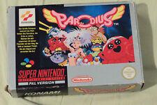 Parodius für Super Nintendo (SNES) mit OVP und Anleitung, PAL Deutsch