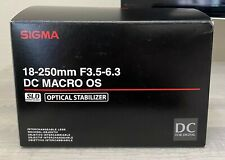 Sigma 18-250mm F3.5-6.3 DC Macro OS | SLD Glass | Optical Stabilizer