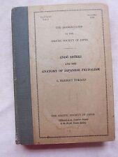 Old Rare Book Ando Shoeki The Anatomy of Japanese Feudalism 1949 3rd Series FC