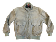 Vintage Members Only Suede Leather Bomber Plaid Lining Jacket Mens sz 42