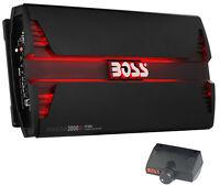 New Boss Audio PT3000 3000W 2 Channel Car Audio Amplifier Power LED Amp+Remote