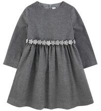IL GUFO festliches Kleid in grau *mit 3D Gürtel* Gr.116-152 NEU %SALE%