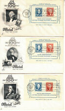 FDC'S #948 CIPEX ARTCRAFT FOUR CACHETS NEW YORK,NY MAY 19 1948 UNADDRESSED