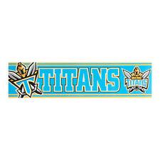 Gold Coast Titans NRL LOGO Car Bumper Sticker 300mm x 75mm Man Cave Bar Gift