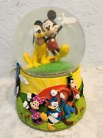 Disney Mickey Mouse Clubhouse Musical Snow Water Globe Mickey Pluto 6.5""