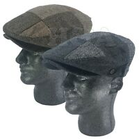 Herringbone Patch Work Newsboy Cabbie Paperboy Snap Bill Flat Ivy Cap Hat IV3010