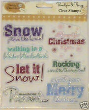 Papermania Set chiara TIMBRI BUON NATALE LET IT SNOW WINTER WONDERLAND