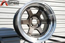 15x7 Rota GRID V 4x100 +20 Royal Gun Metal Rims (Set of 4)