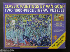 Classic Paintings Van Gogh Jigsaw Puzzles Two 1,000 pc puzzles Flowers Garden