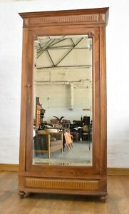 Antique vintage rustic carved FRENCH armoire wardrobe