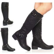 Botas de caña media de mujer de tacón medio (2,5-7,5 cm) de color principal negro