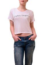 Wildfox Mujer Real Feel ochenta grados Camiseta Top Luz Rosa Talla S RRP £ 55 BCF74