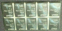BLOCK OF 10 ONE(1) GRAM 999 SILVER BARS TAKEN FROM VALCAMBI SUISSE COMBIBAR!
