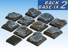 25mm Resin Scenic Bases (10) Square Slate Warhammer