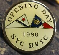 Opening Day 1986 SYC RVYC pin badge Seattle Yacht Club Royal Vancouver