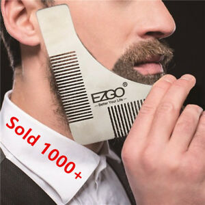 Men Stainless Steel Mustache Beard Comb Trimming Shaping Template Tool Symmetry