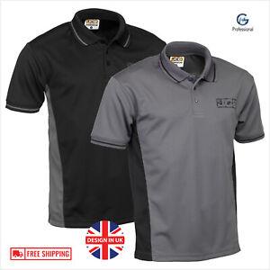 JCB Workwear Trade Polo Shirt Short Sleeve Moisture Wicking Anti Bacterial Top