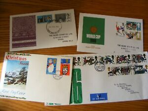 FOUR (4) GB  FDC WORLD CUP, 900th ANNIVERSARY WESTMINSTER ABBEY 1966    (4)