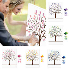 Wedding Birthday DIY Sign in Signature Canvas Guest Book Fingerprint Painting