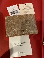 Kate Spade Small Slim Card Holder Glitter Joeley Rose Gold Wallet WLRU5774 $59