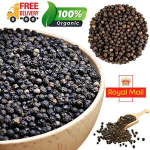Organic Black Peppercorns Pepper Whole Kali Miri Mari A-Grade Premium Quality UK
