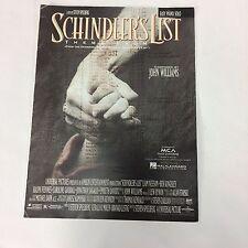 Theme From Schindlers List MCA Amblin sheet music piano 1993 MCA John Williams