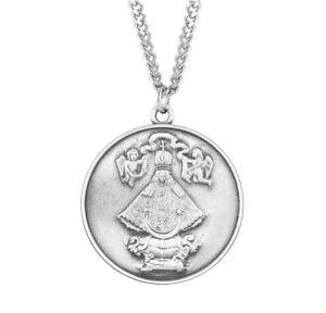 "Virgen de San Juan Round Medal 1.1"" + 24"" Chain"