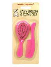 Beautiful beginnings bébé cheveux brosse et peigne kit rose