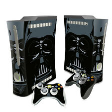 Skin Vinyl Sticker for XBox 360 fat Console 2 Controllers Decal Black Style