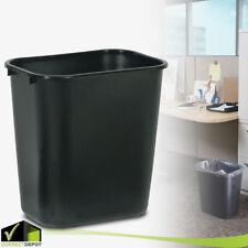 PLASTIC TRASH CAN Rubbermaid Garbage Recycle Waste Bin 7 Gal Black Home Office