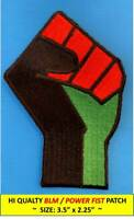 * POWER FIST BLACK LIVES MATTER BLM EMBROIDERED PATCH IRON-ON / SEW PAN-AFRICA