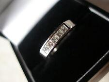 18 CARAT WHITE GOLD PRINCESS CUT DIAMOND ETERNITY / WEDDING RING MADE IN UK BNIB