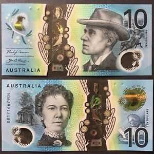 2017 AUSTRALIA 10 DOLLARS POLYMER P-63 UNC> > > > >ANDREW BARTON BANJO PATERSON