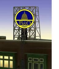 MILLER ENGINEERING 339060 N/Z SCALE B&O RAILROAD Neon Billboard Sign FREE SHIP