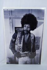 "Jimi Hendrix 23""x 35"" Black & White Poster 1996 Published By OSP"
