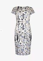 ADRIANNA PAPELL SIZES 8 to14 LIGHT BLUE CAMERON WOVEN BELTED DRESS BNWT RRP£135